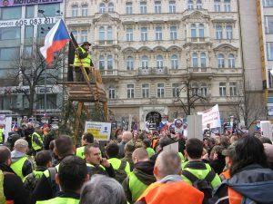 Demonstracja strzelców w Pradze