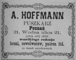Adolf Hoffmann w Poznaniu – puszkarz i oprawiający broń palną