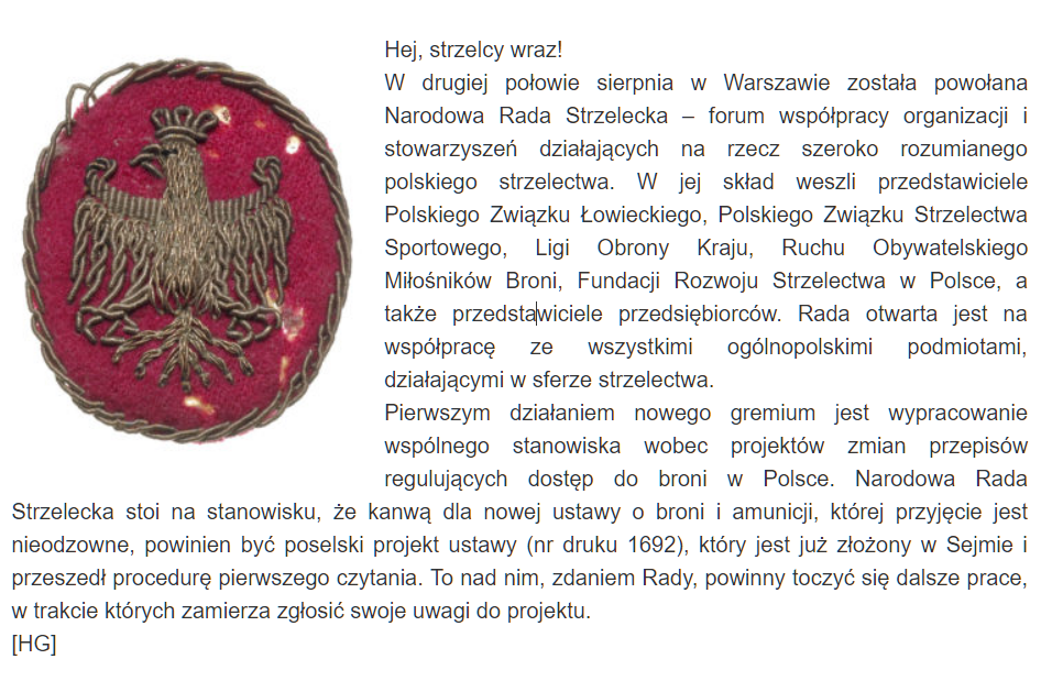 W Warszawie została powołana Narodowa Rada Strzelecka
